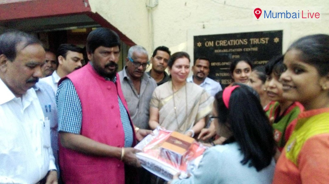 Ramdas Athawale celebrates Girl Child Day!