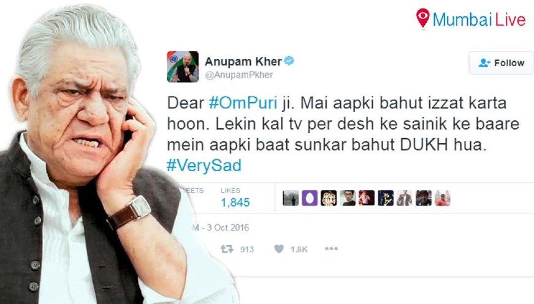 Om Puri apologises...