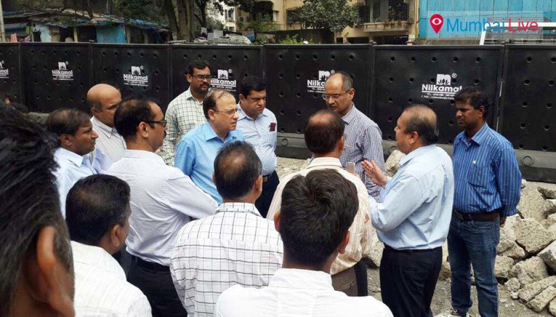 BMC commissioner surveys the potholes