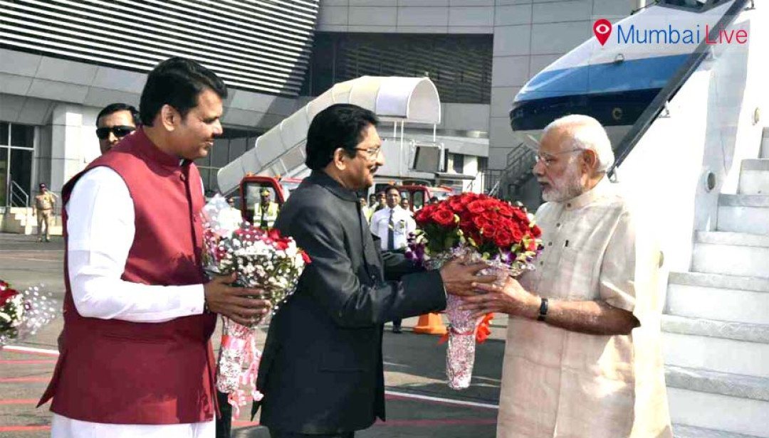 PM arrives in Mumbai