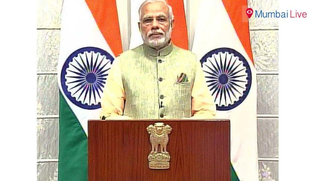 Glimpses of PM Modi's speech