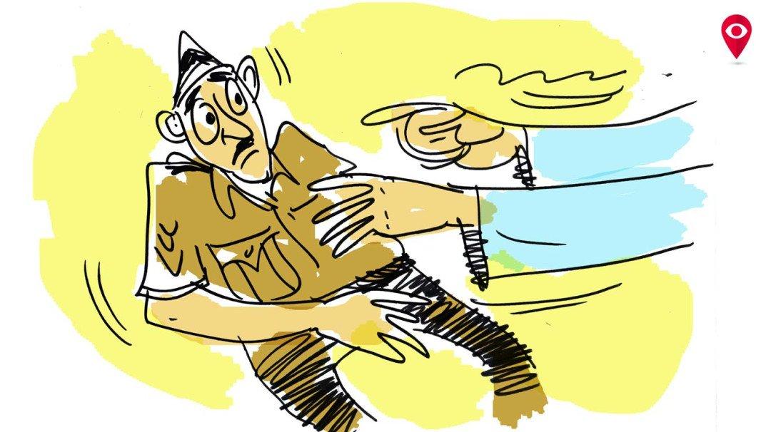 पुलिस अधिकारी के साथ धक्का मुक्की के आरोप में नगरसेविका का पति गिरफ्तार