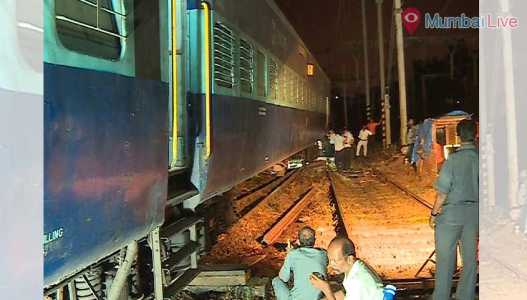 Hussain Sagar Express got derailed