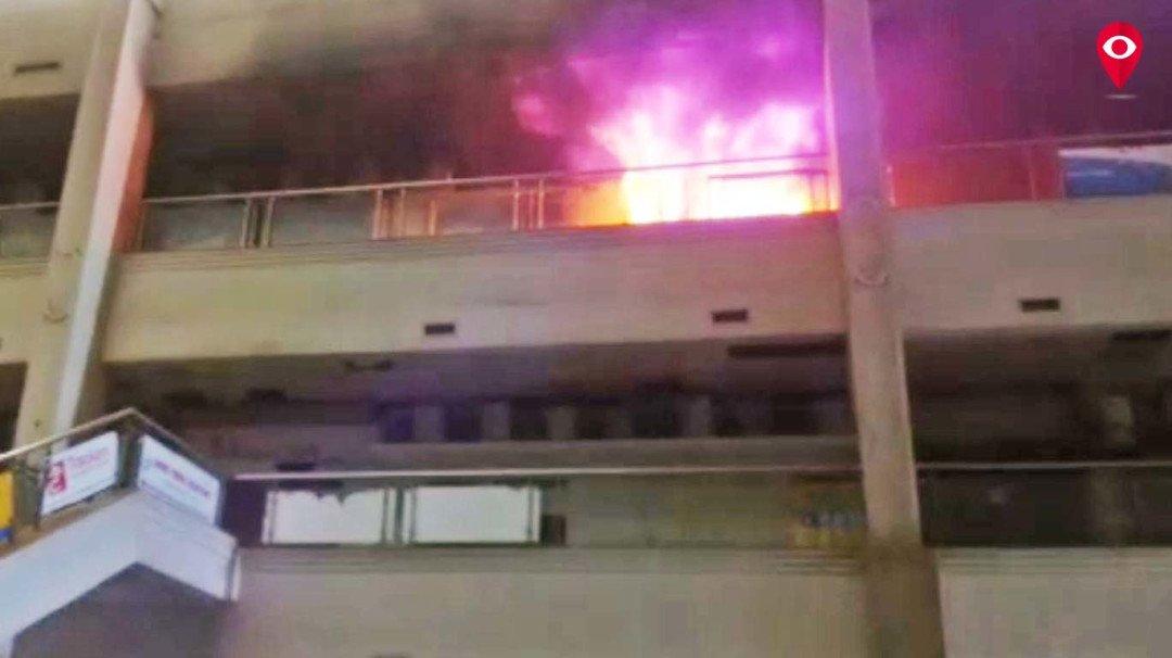 Fire breaks inside the mall in Powai