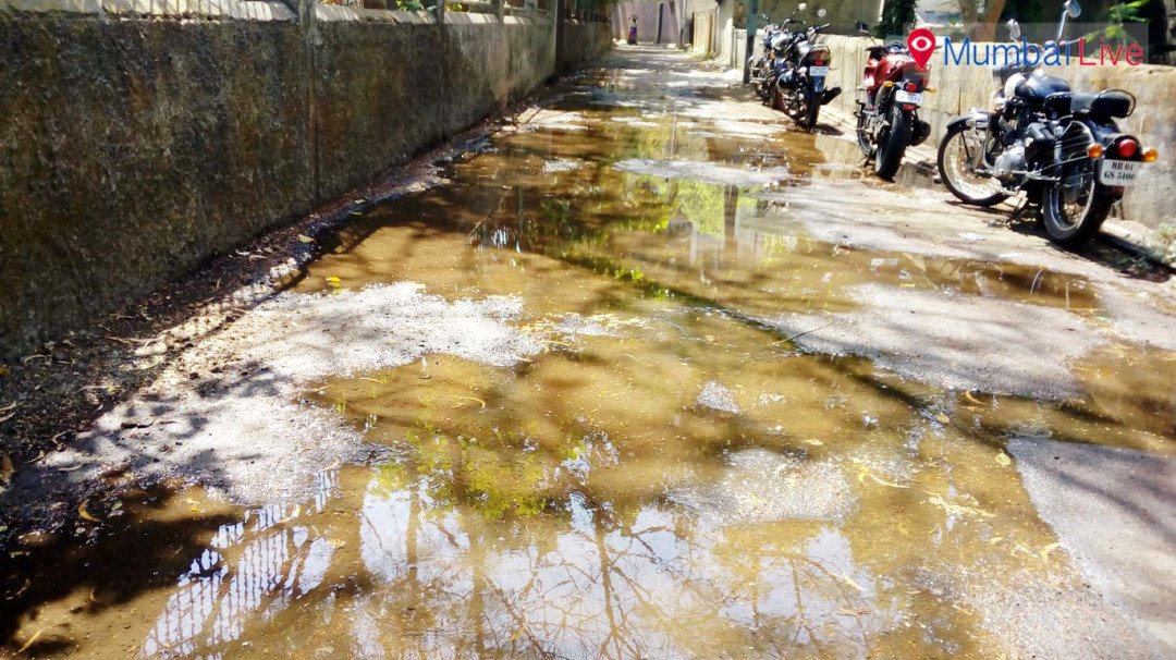 Water pipeline bursts in Chembur