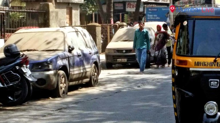Vehicles gathering dust outside Police Station