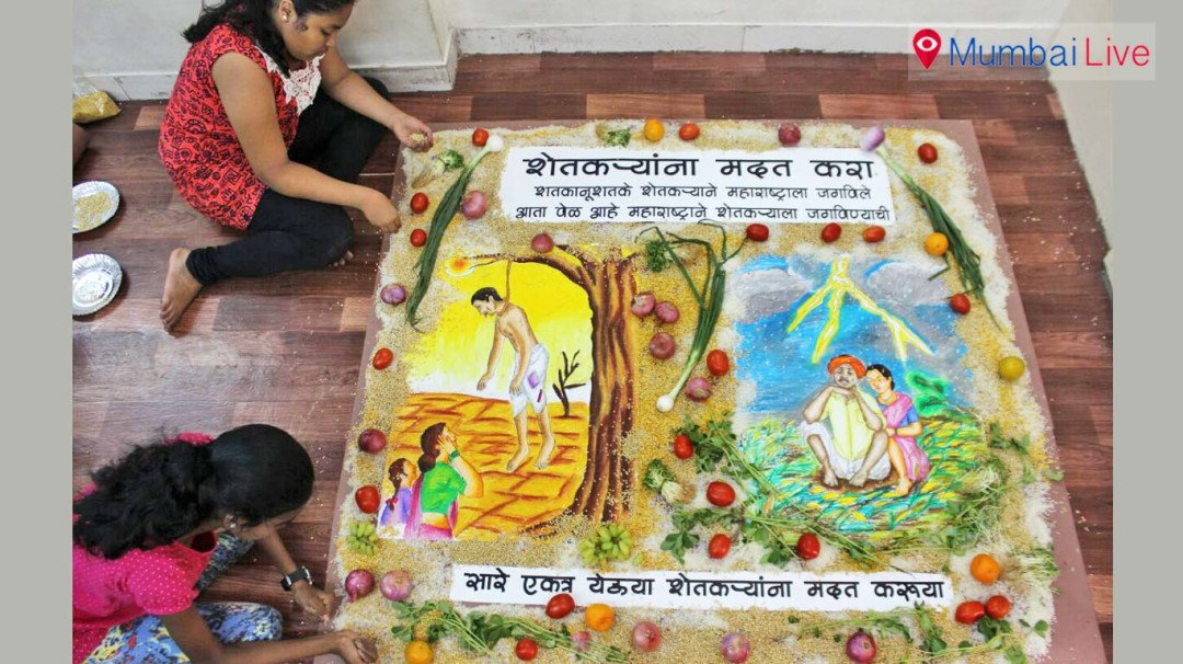Gurukul School of Arts' students pay tribute to farmers through art