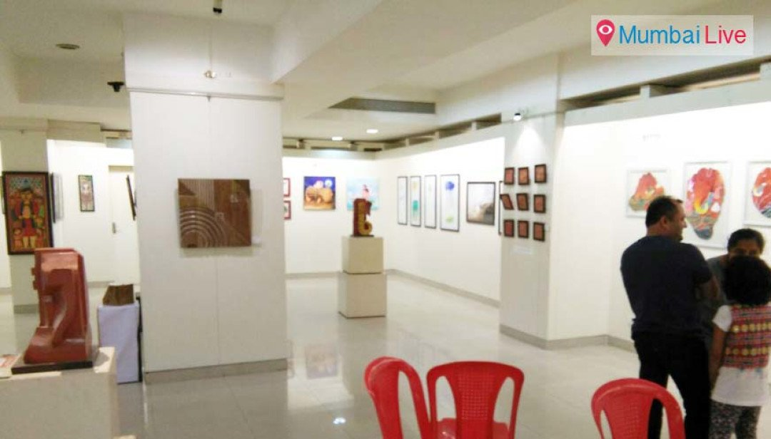 Colourful painting exhibition