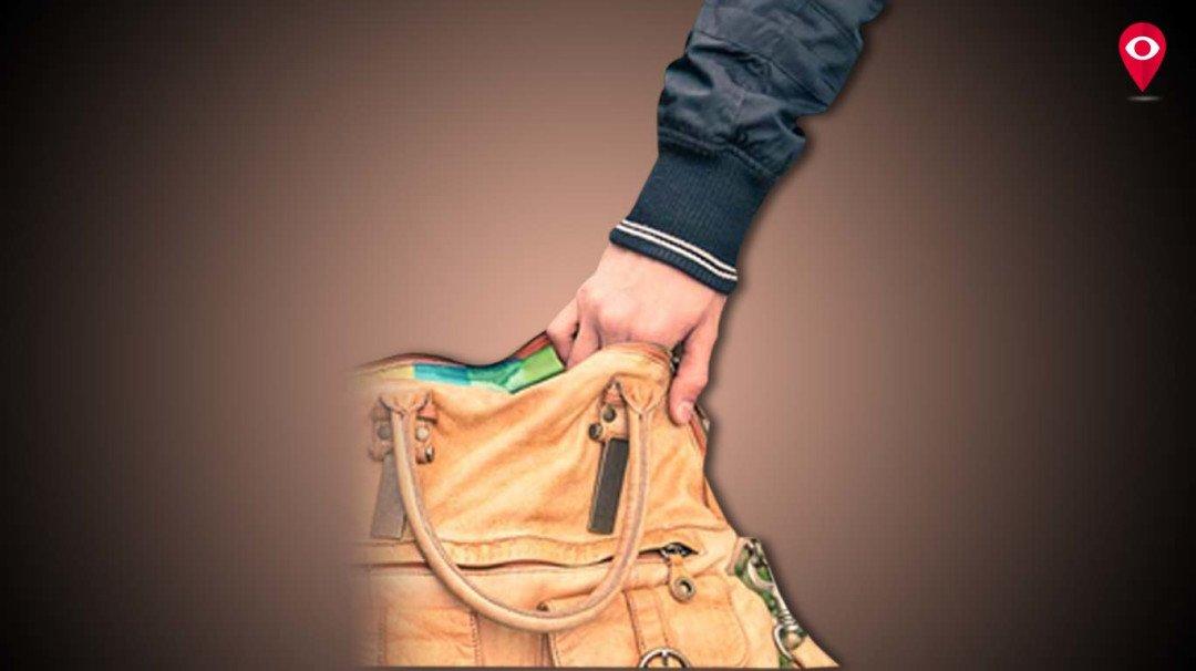 दिनदहाड़े महिला का पर्स ले उड़े चोर, पर्स में थे 5 लाख रुपए