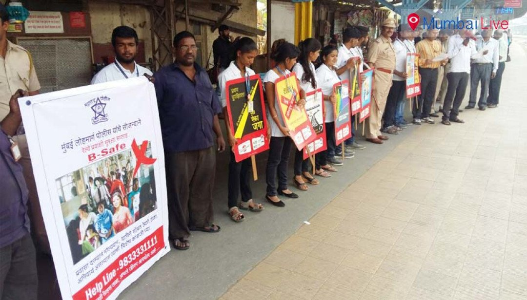 Human chain for rail safety