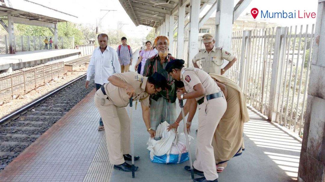 Wadala police conducts patrolling at stations
