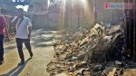 चेंबूर स्टेशन के बाहर कचरे का ढेर