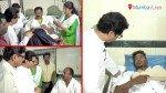 Raj Thackeray visits injured MNS corporator Sanjay Turde