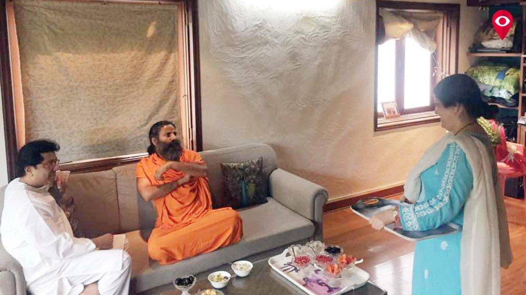 Baba Ramdev meets Fadnavis and Thackeray
