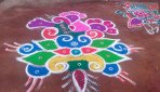 Shiv Sena organises Rangoli Competition
