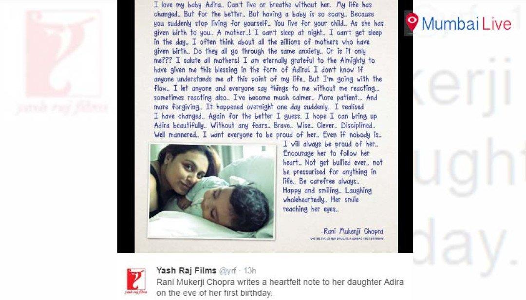 Rani introduces Adira, via Twitter