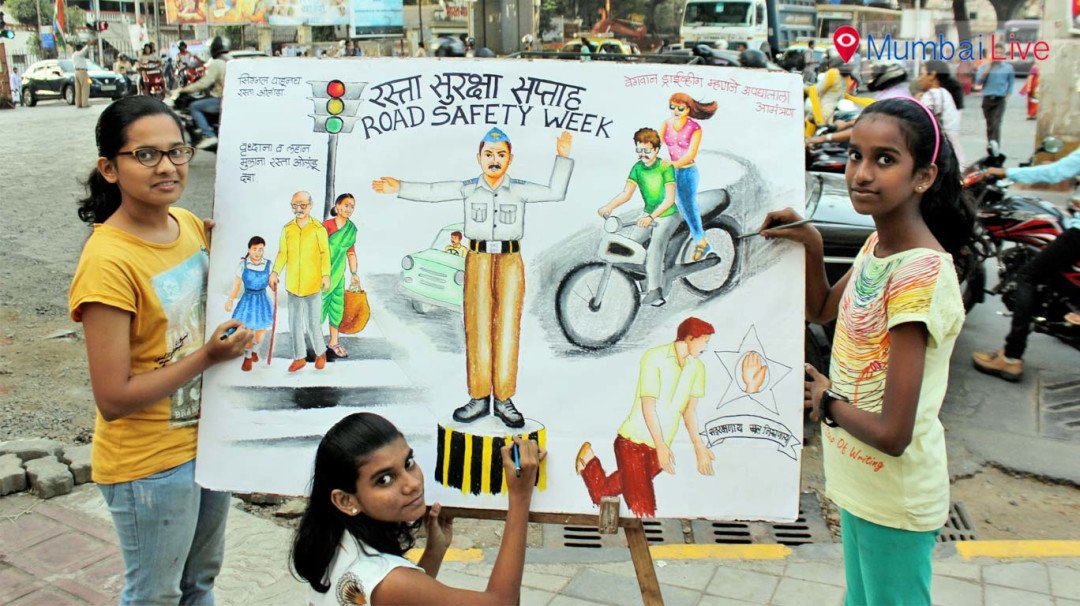 Gurukul students advocate 'road safety'