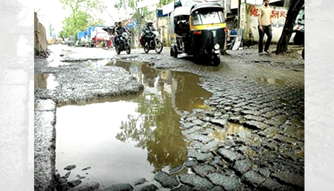 Andheri's sewage filled road