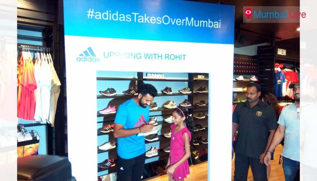 Rohit Sharma inaugurates the Adidas 'Homecourt'