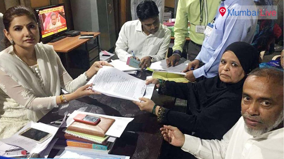 Ruksana Saeed on campaigning spree