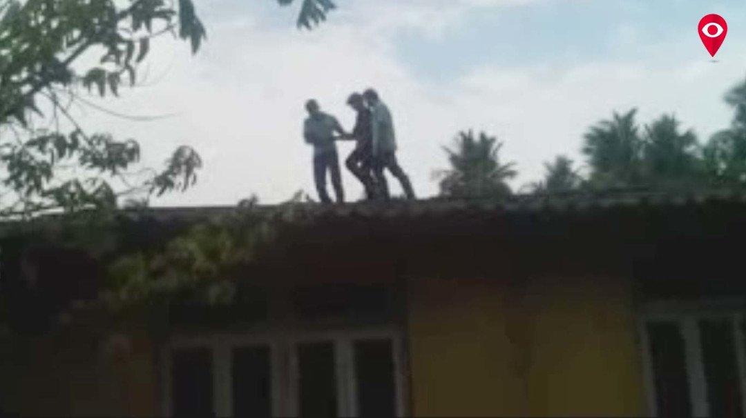 वसईचा 'वीरू' आत्महत्या करण्यासाठी चढला छतावर!