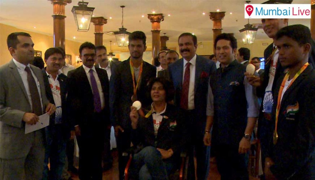 Tendulkar fetes Paralympics' heroes
