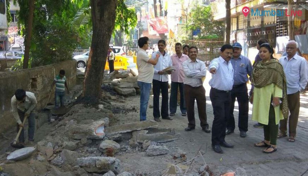 Road repair work begins in Dahisar West