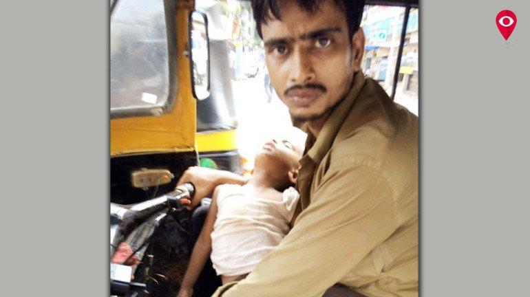 बेटे को गोद में लिए , जिंदगी से जंग लड़ता सईद