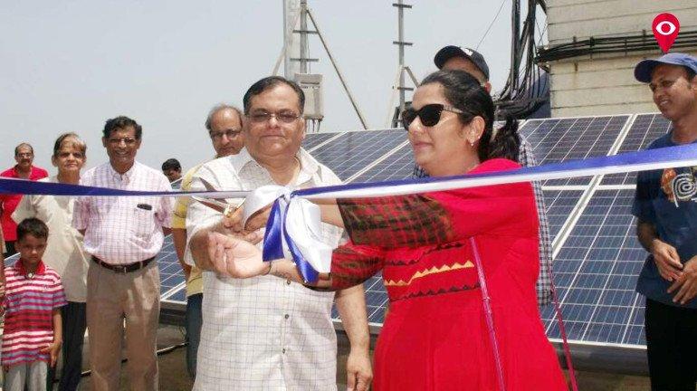माहिममध्ये सौर ऊर्जा प्रकल्पाचे उद्घाटन