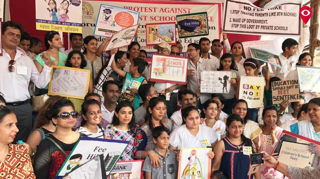 Parents in city protest against fee hike, write letter to CM demanding refund