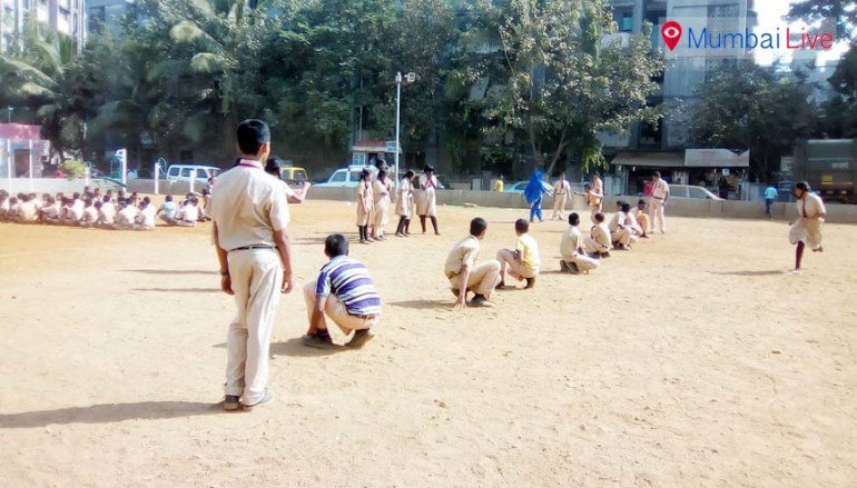 Sports Day starts in Bhaurao Patil School