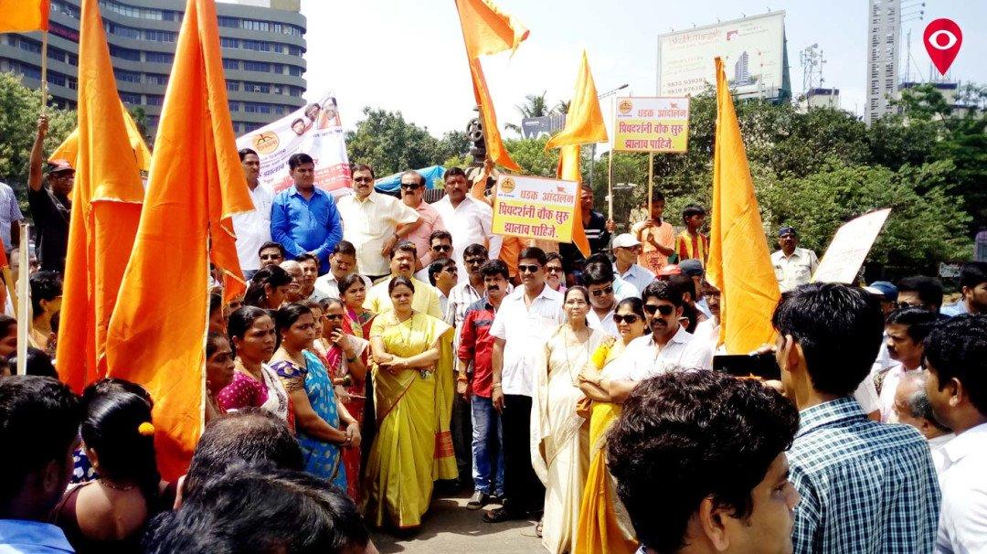 Shiv Sena goes on agitation to open the Priyadarshini Circle