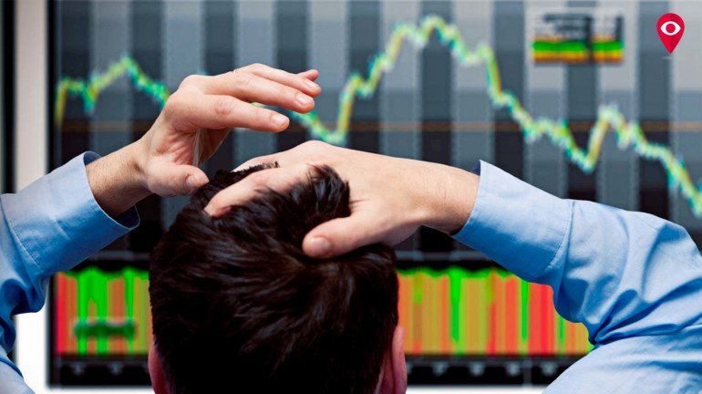 The Indian stock market registers a good fall due to heavy tradeoff