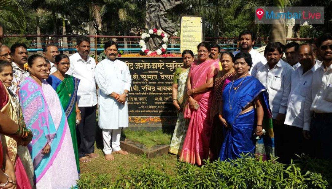 राज्यमंत्री रवींद्र वायकरांची हुतात्म्यांना श्रद्धांजली