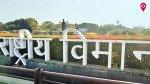 शिवाजी महाराज की मूर्ति के आगे लगा कचरे का ढेर