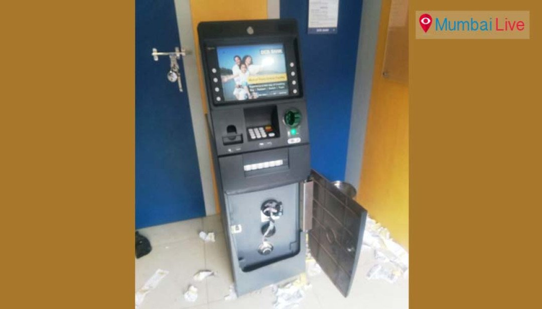 Robber caught vandalising ATM machine