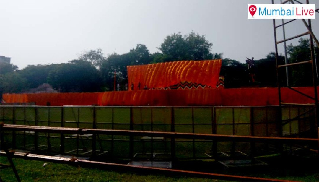 Shivaji Park readies for Sena Dussehra rally