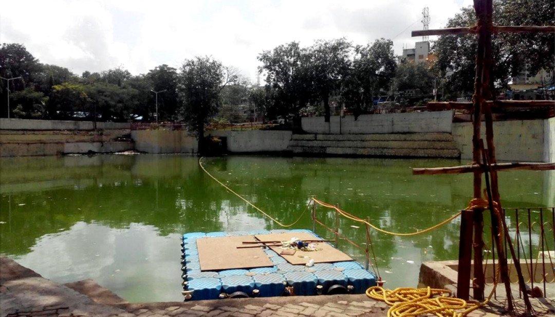 गणेश विर्सजन के लिए शिवाजी तालाब सज्ज