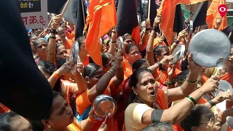 Shiv Sena mocks BJP 'Where are achhe din?'