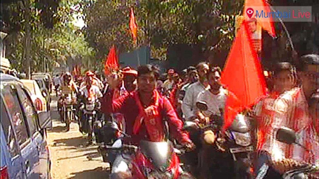 शिवसेना की रैली में कानून की उड़ी धज्जियां