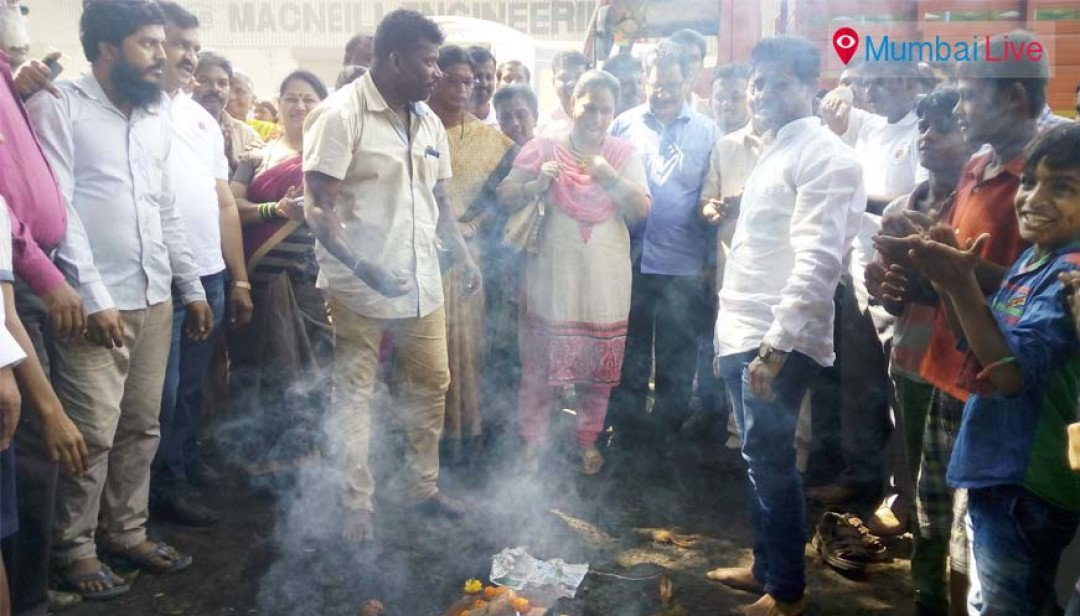 Bhoomipujan for toilet at Amanshanti Nagar