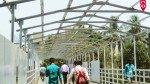गोरेगांव पब्लिक ब्रिज का छप्पर लगाने का कार्य हुआ शुरू