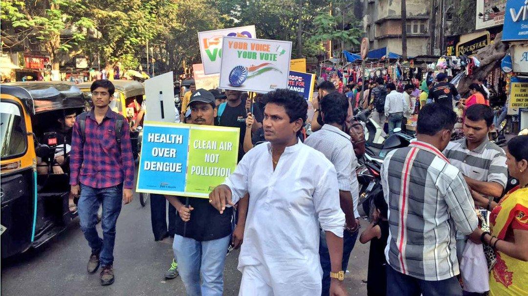 वोटरों को जागृत करने के लिए रैली