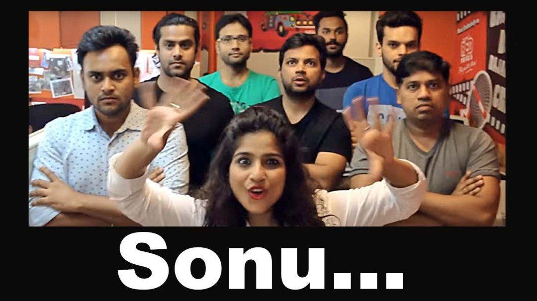 "The nation croons to ""Sonu, tula mayavar bharosa nahi kaa"""