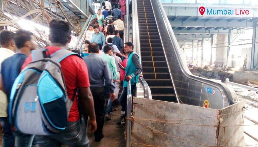 Escalator not functioning at Goregaon station