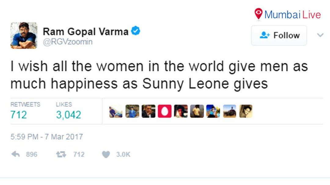 Ram Gopal Verma's Nasty comments about Sunny Leone