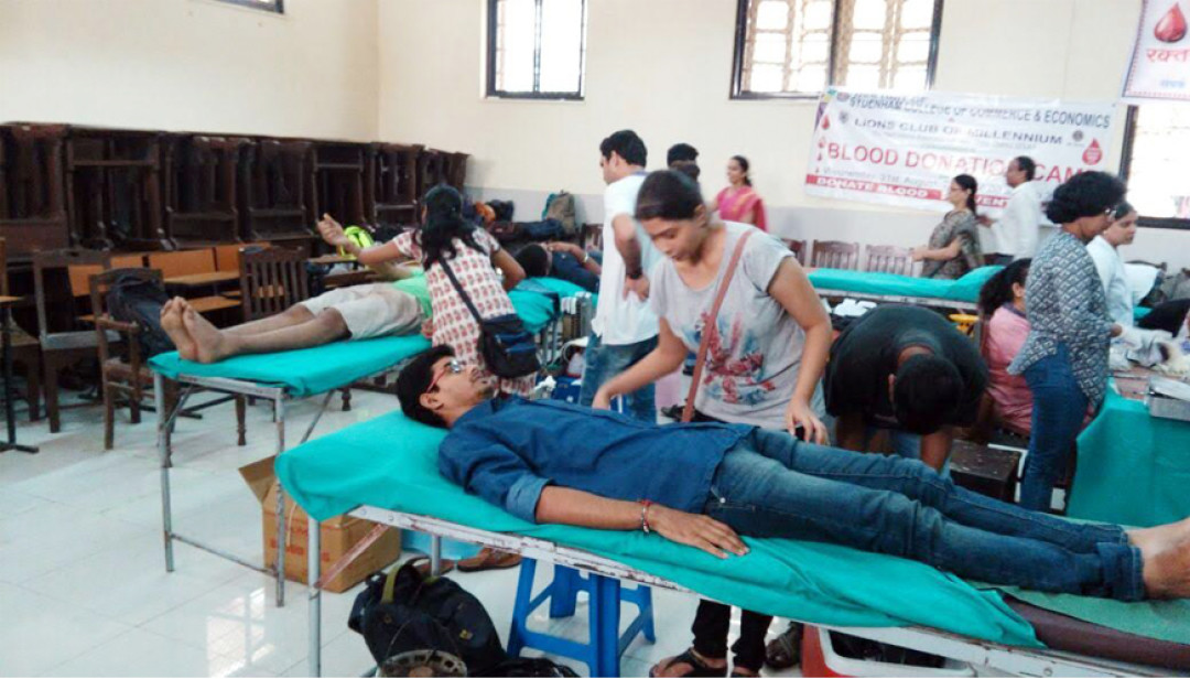 Sydenham College organized a blood donation camp!