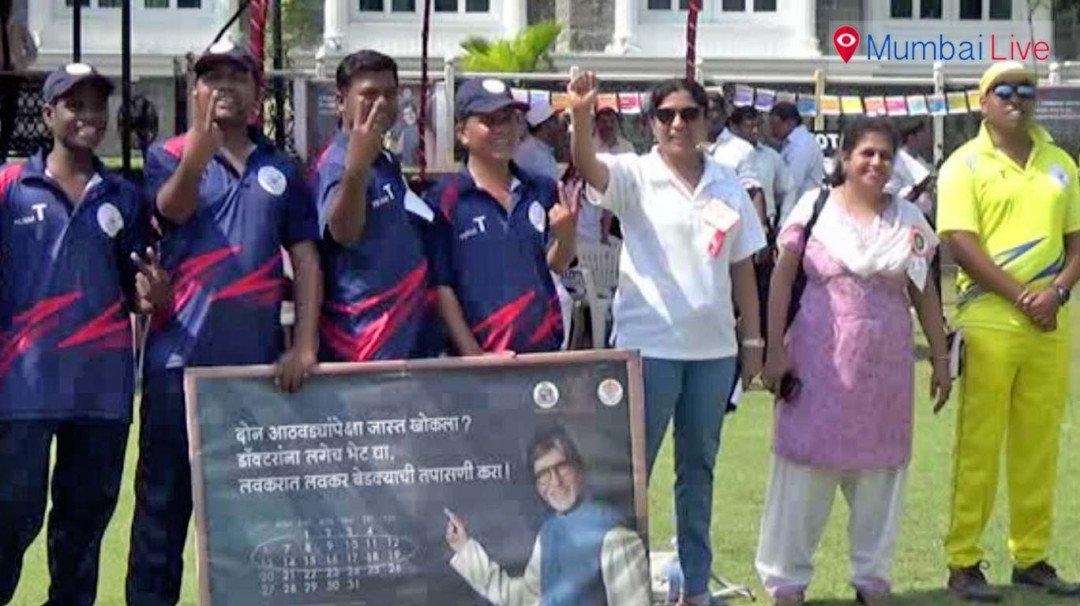 टीबी पीड़ितो के लिए क्रिकेट स्पर्धा का आयोजन