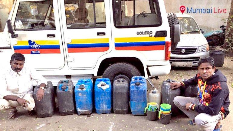 अवैध ताड़ी के साथ दो गिरफ्तार
