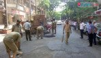 Potholes on Thakur Village roads filled up